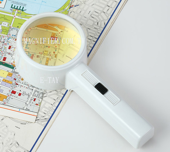 Hands-Free Illuminated Magnifying Glass
