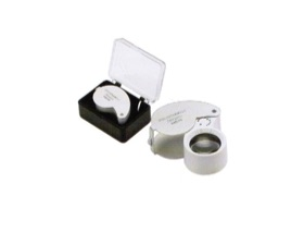 LED lighted portable jewelery folding Magnifier loupe