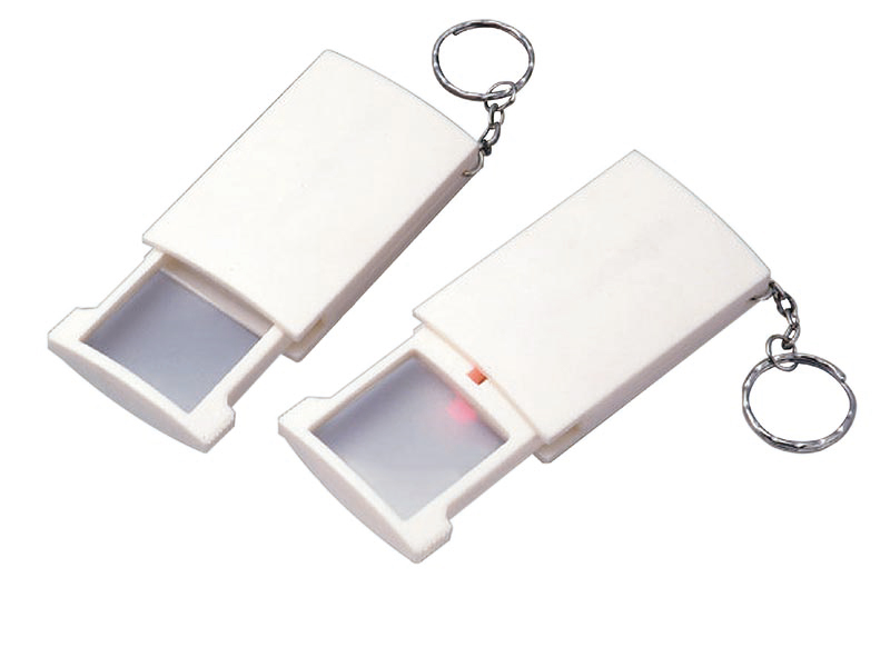 Pop-up LED Pocket Magnifier Keychain